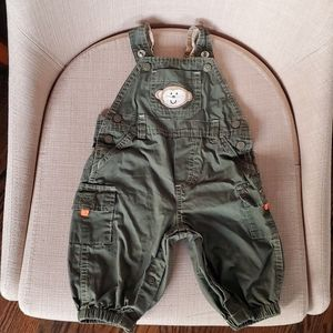 Carter's Green 100% Cotton Overalls Size 3 M